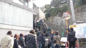 八幡東区の坂道にて。この坂の上り下りはきつい!